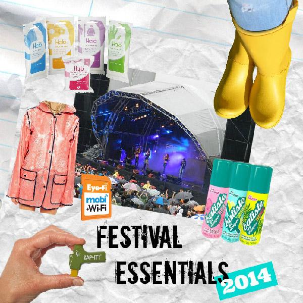 festival essentials 2014