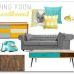 Retro Living Room Moodboard
